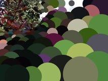 Abstracte cirkels op perspectiefachtergrond Royalty-vrije Stock Foto's