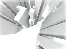 Abstracte cityscape Royalty-vrije Stock Foto's