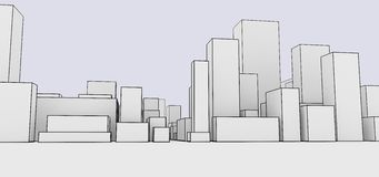 Abstracte cityscape beeldverhaalstijl Royalty-vrije Stock Fotografie