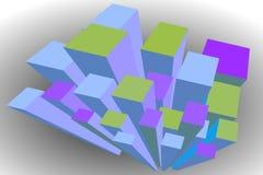 Abstracte Cityscape Illustratie Royalty-vrije Stock Afbeeldingen