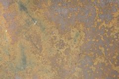 Abstracte Close-up van Oud Rusty Metal Wall Texture Royalty-vrije Stock Afbeelding