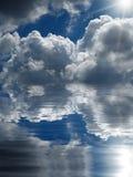 Abstracte cloudscapeachtergrond Stock Foto