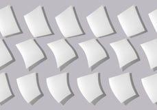Abstracte collage van bladen van document op een grijze achtergrond royalty-vrije stock afbeeldingen