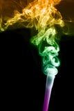 Abstracte colorfullachtergrond met rook Royalty-vrije Stock Afbeeldingen