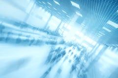 Abstracte commerciële centrumachtergrond Stock Foto