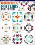 Abstracte complexe geometrische geplaatste patronen Stock Foto