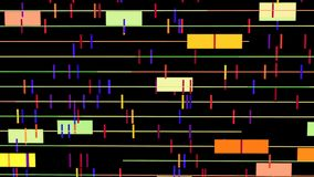 Abstracte computer videoachtergrond in 4k resolutie stock illustratie