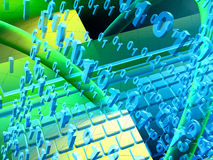 Abstracte computerachtergrond stock illustratie