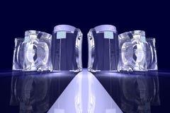 Abstracte computers vector illustratie