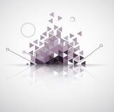 Abstracte computertechnologie bedrijfsachtergrond royalty-vrije illustratie