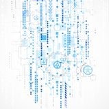 Abstracte computertechnologieachtergrond voor uw zaken royalty-vrije illustratie