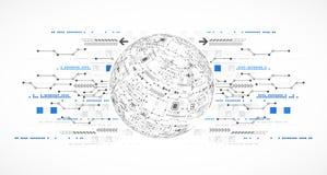 Abstracte computertechnologieachtergrond voor uw zaken stock illustratie
