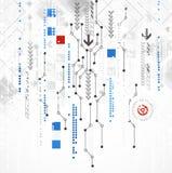 Abstracte computertechnologieachtergrond voor uw zaken Stock Foto's