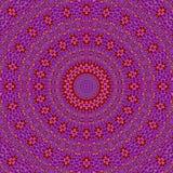 Abstracte concentrische violette rode geel van het cirkelornament purpole Royalty-vrije Stock Afbeeldingen