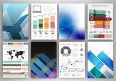 Abstracte concepten vectorpictogrammen en blauwe creatieve achtergronden Royalty-vrije Stock Afbeelding
