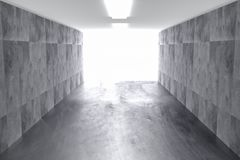 Abstracte concrete geometrische achtergrond met licht 3d geef terug royalty-vrije stock afbeeldingen