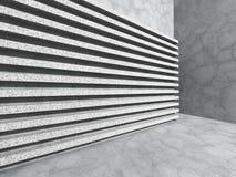 Abstracte concrete muur De architectuurachtergrond van het streeppatroon Royalty-vrije Stock Foto