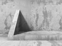 Abstracte concrete muurbouw De achtergrond van de architectuur Royalty-vrije Stock Afbeeldingen