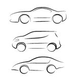 Abstracte contour van auto Stock Fotografie