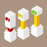 Abstracte Creatieve conceptenachtergrond Het malplaatje van het Infographicontwerp Bedrijfs concept Stock Afbeeldingen