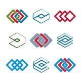 Abstracte creatieve pictogrammen vectorinzameling Stock Afbeelding