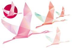 Abstracte Crystal Pink-shadoof Stock Afbeeldingen