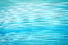 Abstracte cyaanhand geschilderde achtergrond stock illustratie