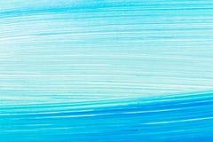 Abstracte cyaanhand geschilderde achtergrond royalty-vrije illustratie