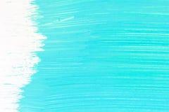 Abstracte cyaanhand geschilderde achtergrond stock foto's