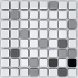 Abstracte 3d achtergrond - grijze kubussen royalty-vrije illustratie