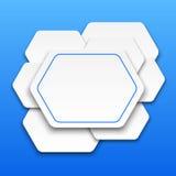 Abstracte 3D achtergrond met veelhoeken. royalty-vrije illustratie