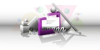 Abstracte 3d achtergrond van geometrische vormen voor banner vectoreps10 Royalty-vrije Stock Afbeelding