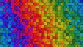 Abstracte 3D achtergrond van regenboog geeft de kleurrijke kubussen terug royalty-vrije illustratie