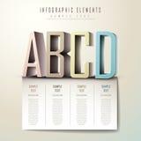 Abstracte 3d alfabetinfographics Stock Afbeeldingen