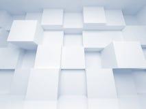 Abstracte 3d architectuurachtergrond met kubussen Stock Foto