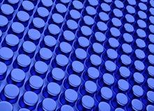 Abstracte 3d blauwe geometrische achtergrond Witte textuur met schaduw 3d geef terug Royalty-vrije Stock Fotografie
