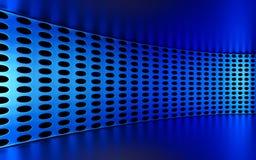 Abstracte 3d blauwe geometrische achtergrond Witte textuur met schaduw 3d geef terug Royalty-vrije Stock Afbeelding