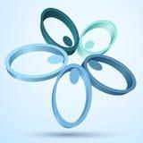 Abstracte 3D bloem Royalty-vrije Stock Afbeelding