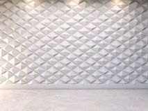 Abstracte 3d decoratieve muurachtergrond, het 3d teruggeven Stock Foto