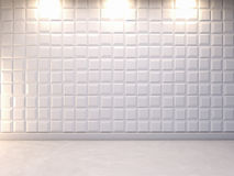 Abstracte 3d decoratieve muurachtergrond, het 3d teruggeven Royalty-vrije Stock Foto's