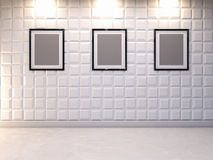Abstracte 3d decoratieve muurachtergrond met lege omlijsting Royalty-vrije Stock Afbeelding