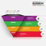 Abstracte 3D digitale bedrijfspiramide Infographic Stock Afbeeldingen
