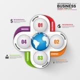 Abstracte 3D digitale zaken Infographic Stock Foto