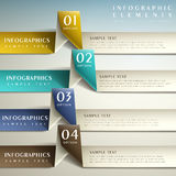 Abstracte 3d document infographics Royalty-vrije Stock Foto