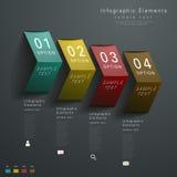 Abstracte 3d document infographics Royalty-vrije Stock Afbeeldingen