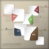 Abstracte 3d document infographics Stock Afbeeldingen
