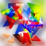 Abstracte 3d driehoekige achtergrond. Royalty-vrije Stock Foto's