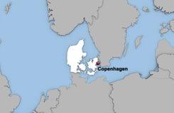 Abstracte 3d geeft van kaart van Denemarken terug Royalty-vrije Stock Foto