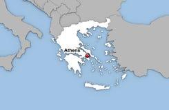 Abstracte 3d geeft van kaart van Griekenland terug Stock Fotografie