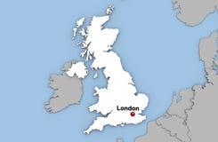 Abstracte 3d geeft van kaart van het Verenigd Koninkrijk terug Royalty-vrije Stock Foto's